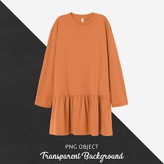 Vooraanzicht van het oranje model van de vrouwenkleding