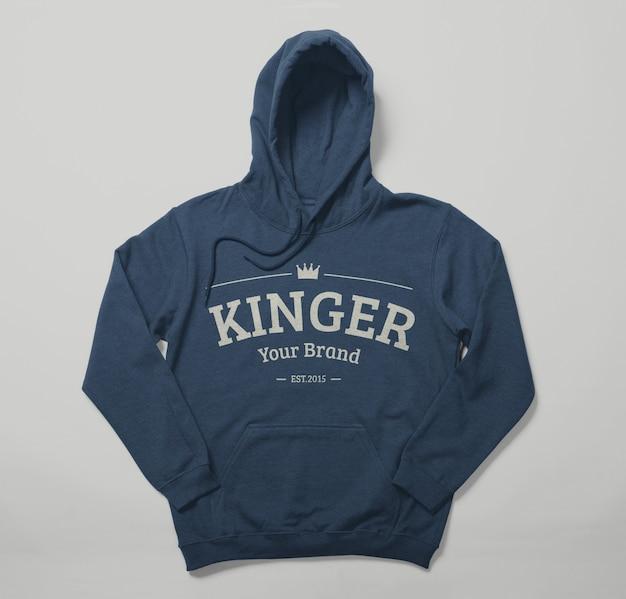 Vooraanzicht van hoodie mockup ontwerp geïsoleerd