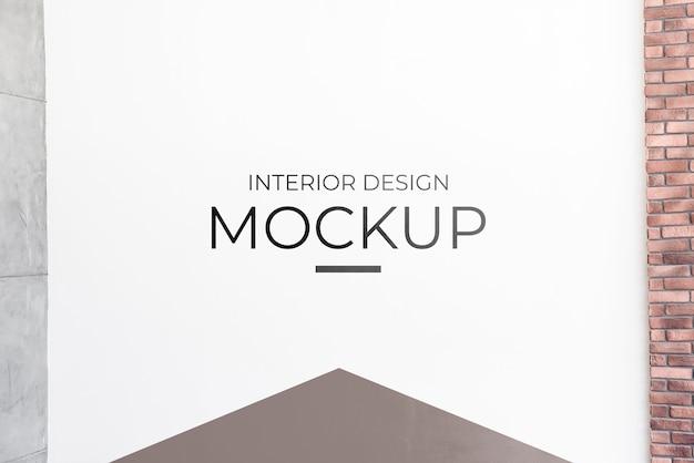 Vooraanzicht van interieurdecoratie mock-up