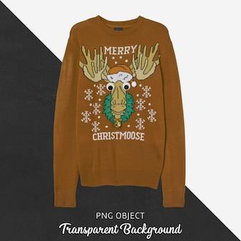 Vooraanzicht van kerst unisex sweater mockup