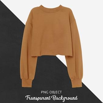 Vooraanzicht van oranje crop sweatshirt mockup