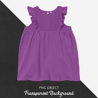 Vooraanzicht van paarse jurk mockup