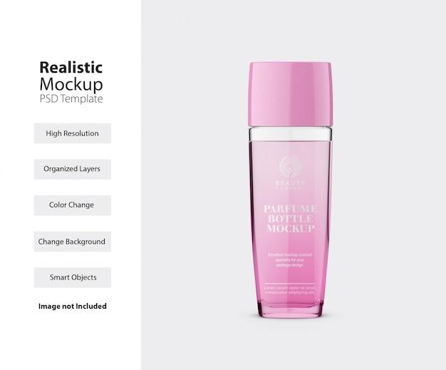 Vooraanzicht van parfumfles met dekselmodel