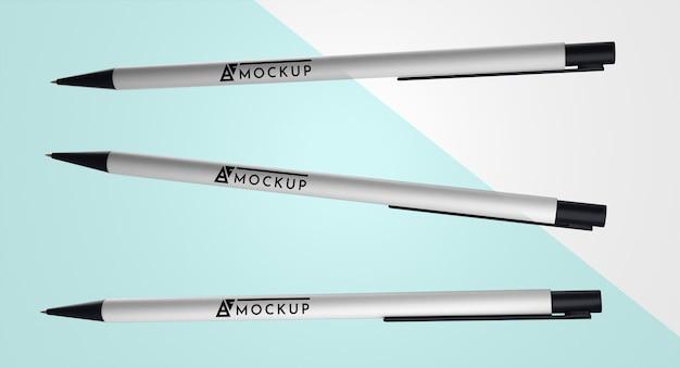 Vooraanzicht van pennenmodel