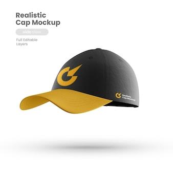 Vooraanzicht van premium cap-mockup