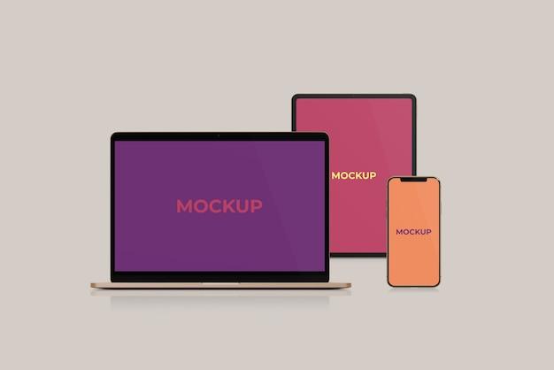 Vooraanzicht van website-model voor meerdere apparaten