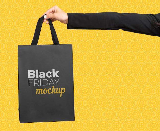 Vooraanzicht van zwarte vrijdag concept mock-up
