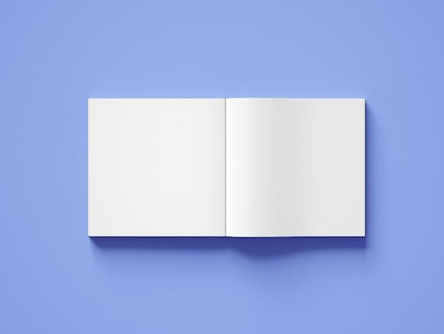 Vooraanzicht vierkante boekomslag mockup