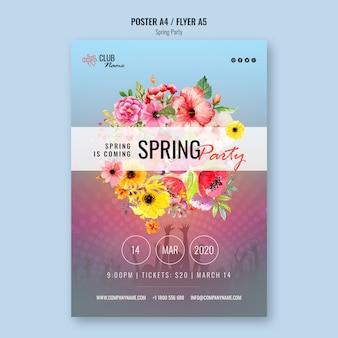 Voorjaarsfeest folder sjabloon
