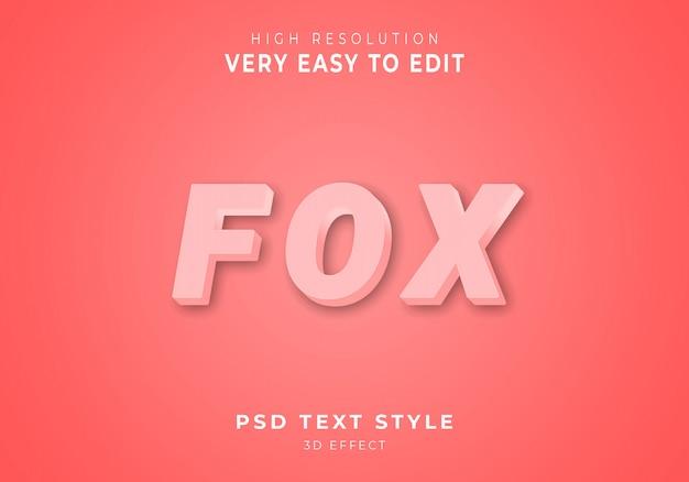 Vos 3d-teksteffect