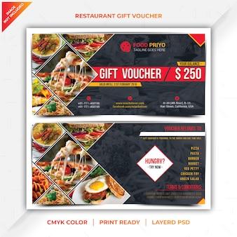 Voucher regalo del ristorante