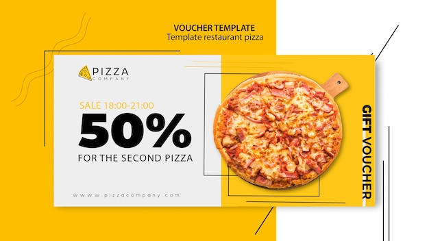 Voucher sjabloon voor pizzarestaurant