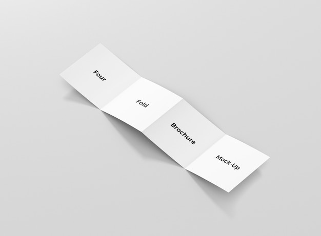 Vouw brochure mockup