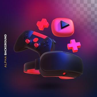 Vr-compositie van videogames