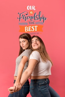 Vrienden plezier tijdens vriendschap dag
