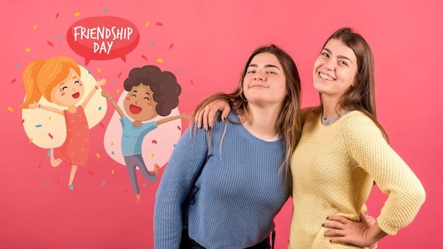 Vrienden samen op vriendschapsdag