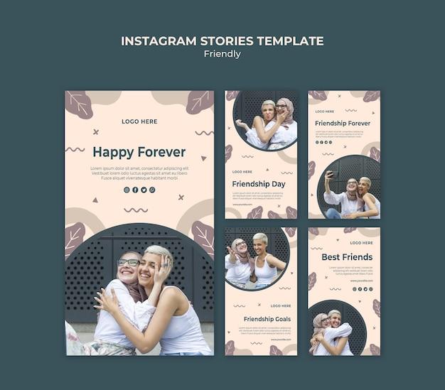 Vriendschapsdag met instagram-verhalen voor jonge volwassenen