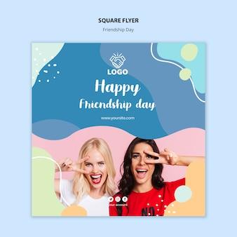 Vriendschapsdag vierkant flyer ontwerp
