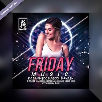 Vrijdag music party flyer