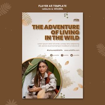 Vrije tijd en dieren in het wild a5 flyer