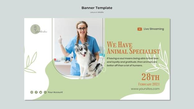 Vrije tijd en dieren in het wild horizontale banner