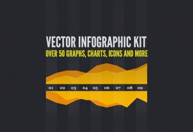 Vrije vector nfographic kit