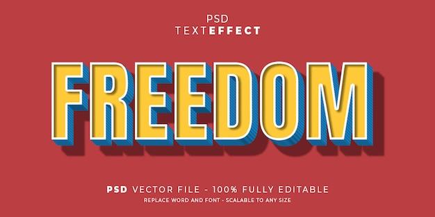 Vrijheid teksteffect stijl premium psd