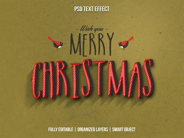 Vrolijk kerstfeest 3d teksteffect
