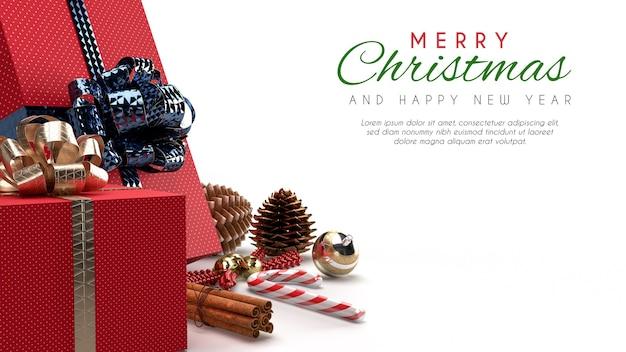 Vrolijk kerstfeest banner mockup
