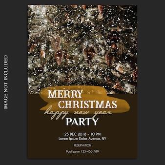 Vrolijk kerstfeest en gelukkig nieuwjaar 2019 foto mockup en uitnodiging kaart of flyer-sjabloon