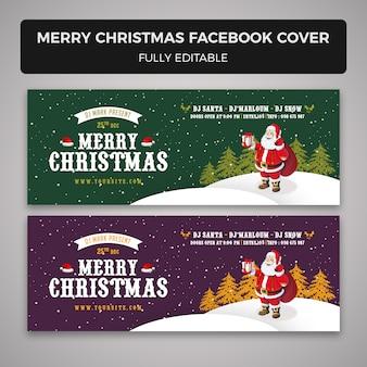 Vrolijk kerstfeest facebook cover