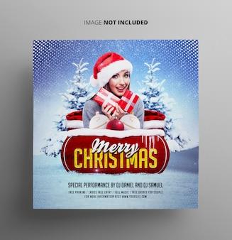 Vrolijk kerstfeest flyer