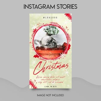 Vrolijk kerstfeest instagram-verhalen sjabloon