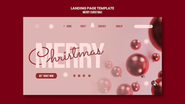 Vrolijk kerstfeest websjabloon