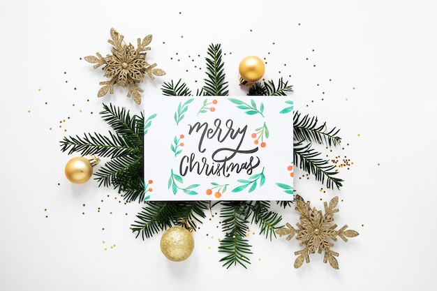 Vrolijk kerstmisconcept op een kaart