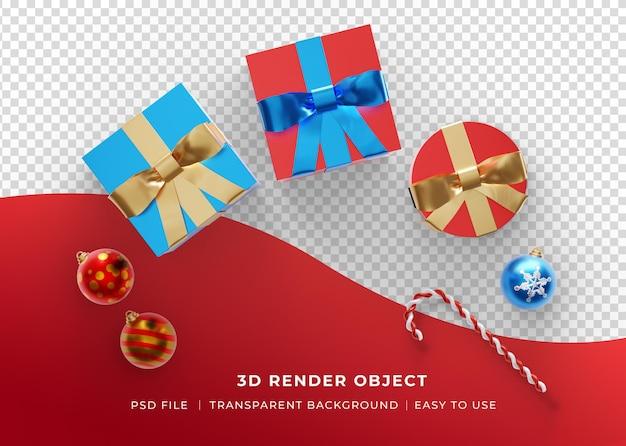 Vrolijke kerstachtergrond met 3d-realistisch ornament