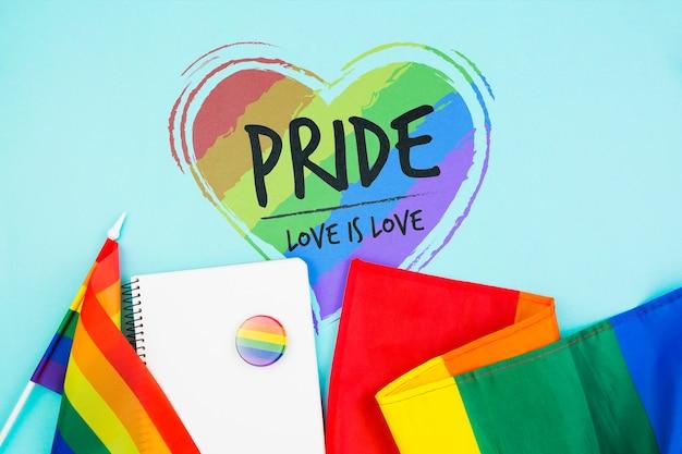 Vrolijke trotsachtergrond met de regenboogvlag
