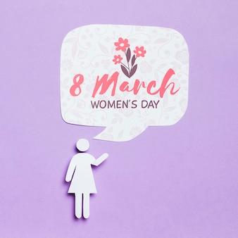 Vrouw dag concept mock-up