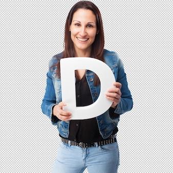 Vrouw die de brief van d houdt