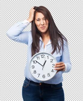 Vrouw met klok