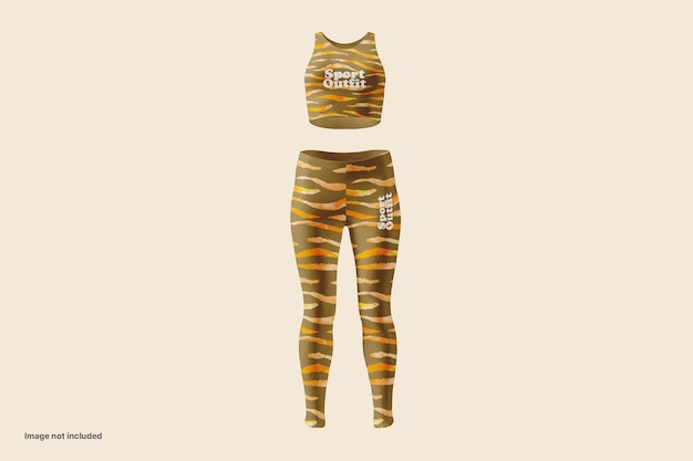 Vrouw sport outfit mockup