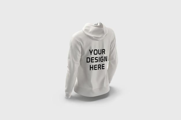Vrouwelijke hoodie mockup ontwerp geïsoleerd