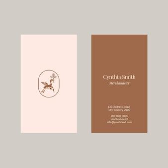Vrouwelijke naamkaartsjabloon psd-collectie