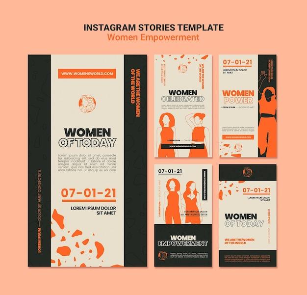 Vrouwen empowerment verhalen op sociale media Gratis Psd