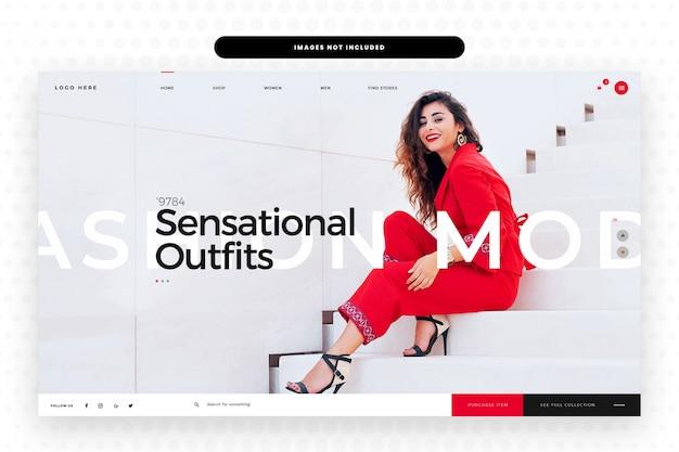 Vrouwen zomer mode websiteontwerp