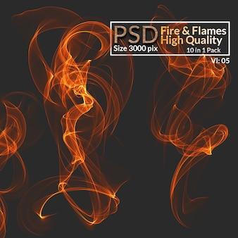 Vuur en vlammen van hoge kwaliteit