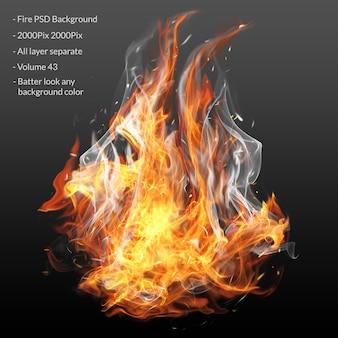 Vuur vlammen effect laag
