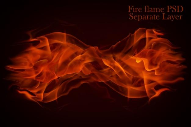 Vuur vlammen geïsoleerd
