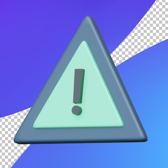 Waarschuwingsbord voor 3d-programmering