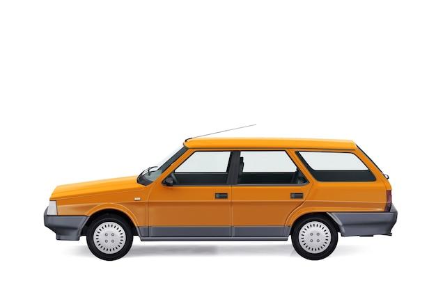 Wagon combi auto 1984 mockup